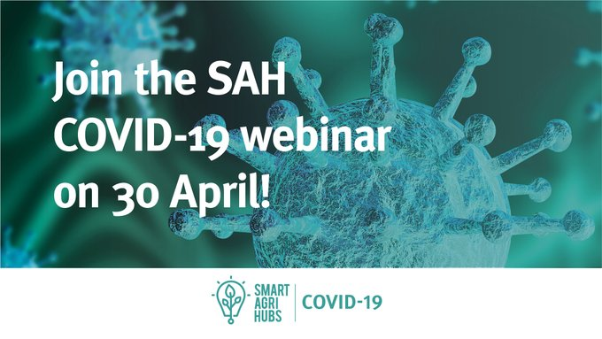 Join the SmartAgriHubs webinar on COVID-19