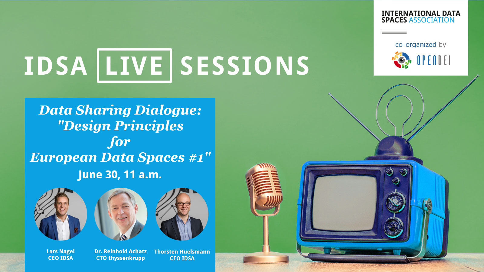 Data Spaces Dialogue: 'Design Principles for European Data Spaces' #1