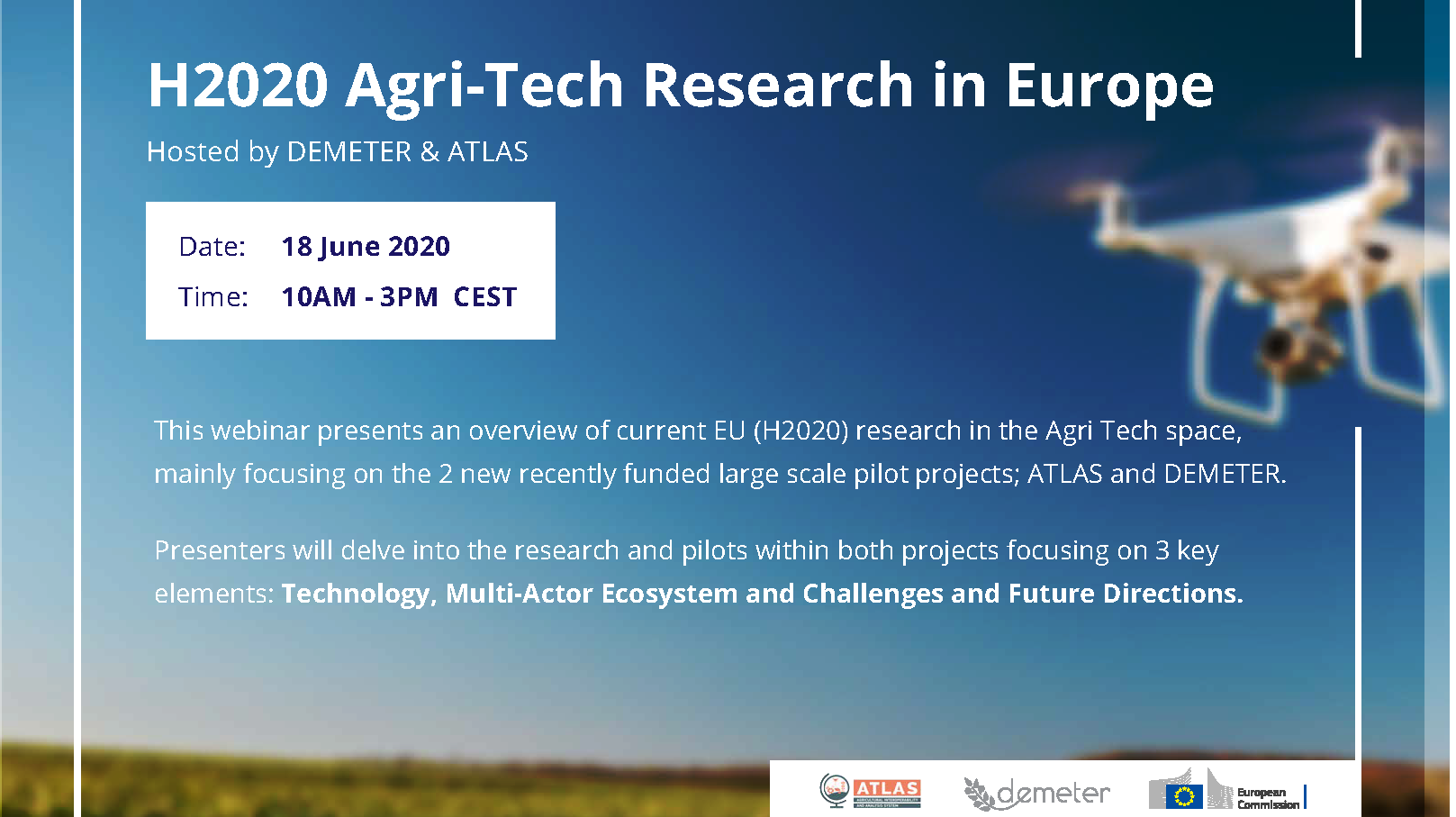 "OPEN DEI @ ""H2020 Agri-Tech Research in Europe"" Webinar"