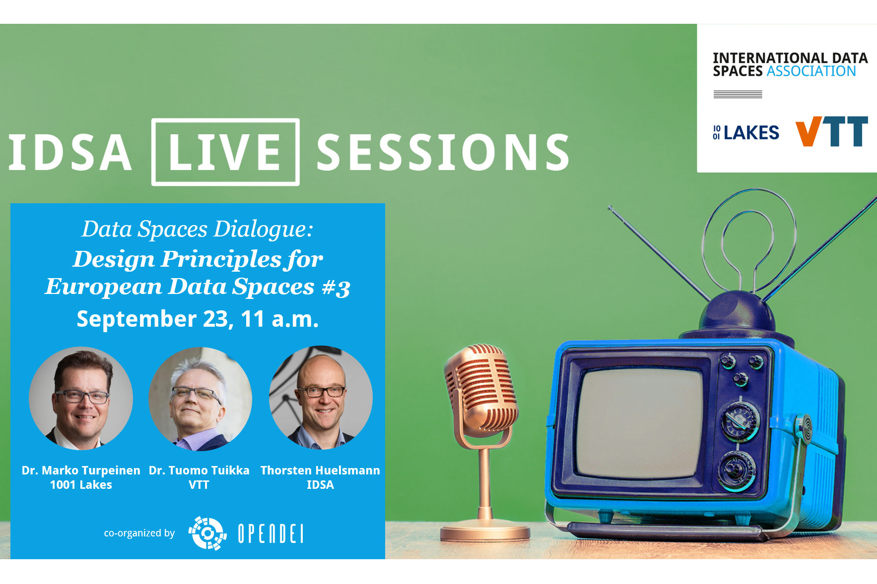 Data Spaces Dialogue: 'Design Principles for European Data Spaces' #3