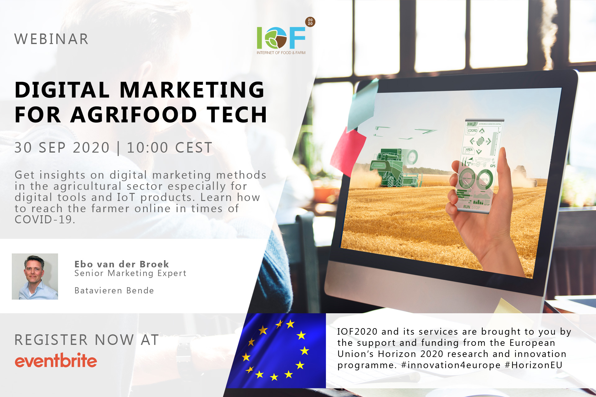 "IoF2020 Webinar ""Digital Marketing for Agrifood Tech"""